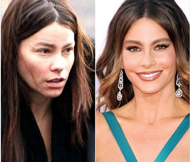 Сила косметики: знаменитости до и после макияжа