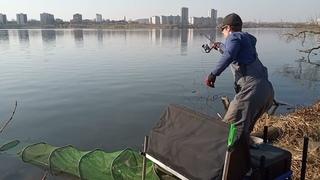 Фидерная рыбалка в Апреле  ,приятный бонус в без рыбный день.