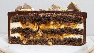 Торт Сникерс. Простой рецепт шоколадного торта. Рецепт самого вкусного шоколадного бисквита