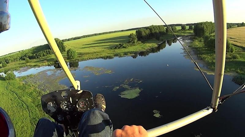 Полёты на дельталёте рокерим на малых высотах Улётно отрываемся Видеоклип Low altitude flight