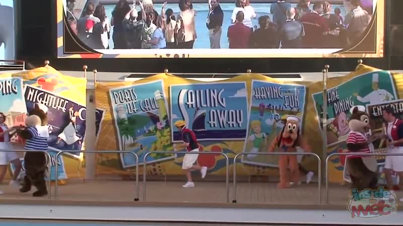 Sail Away Party aboard the Disney Dream Christening Cruise