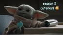 Baby yoda being adorable season 2 edition