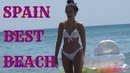 SPAIN TOP BEST BEACHES, Big waves, People Rest, Trip to the sea, Fun holidays, Sunny Summer Video.