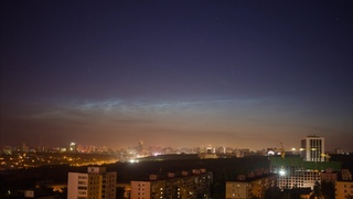 Timelapse - noctilucent clouds in Ufa