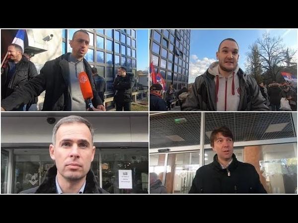 Funkcioneri i aktivisti opozicije blokirali RTS zbog afere Krušik i Jovanjica