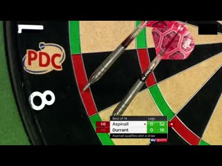 Nathan Aspinall vs Glen Durrant (PDC Premier League Darts 2020 / Week 16)