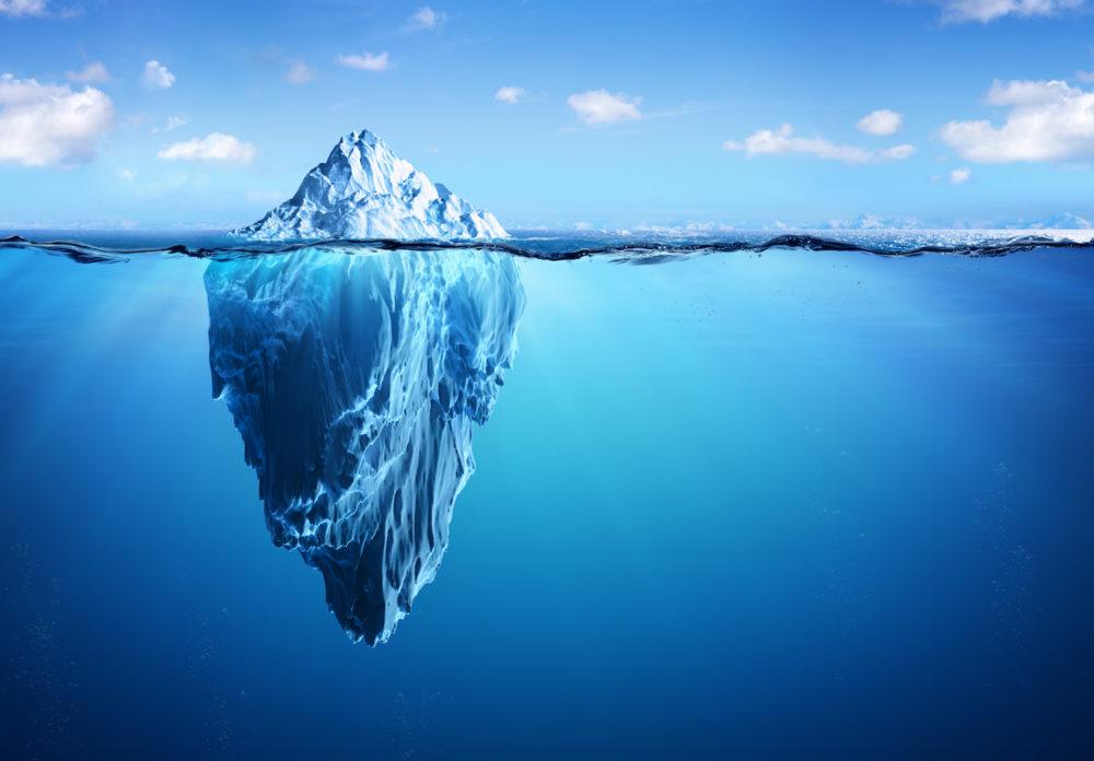 фото подводной части айсберга фото можно