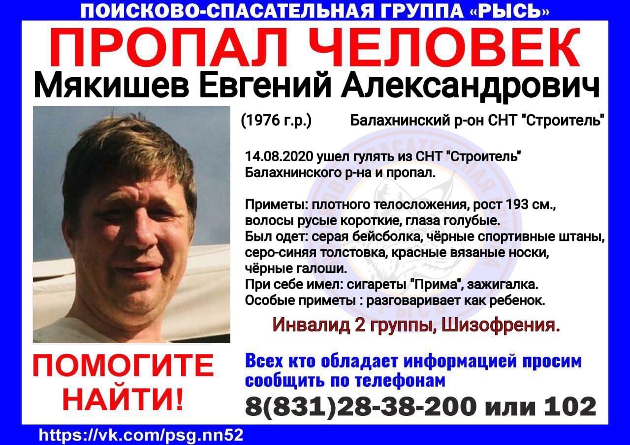 Мякишев Евгений Александрович, 1976 г.р., Балахнинский р-он, СНТ Строитель