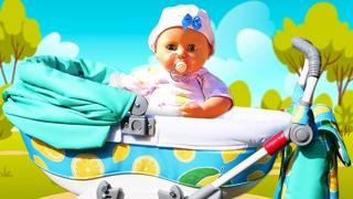 Весёлые игры Как Мама - Кукла БЕБИ АНАБЕЛЬ на прогулке в Коляске! - Сборник видео с Baby Born