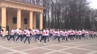 """Флешмоб в Санкт - Петербурге под песню """"ВЫШЕ""""."""