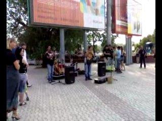 Выступление Эквадорских Индейцев на пл Ленина в Омске