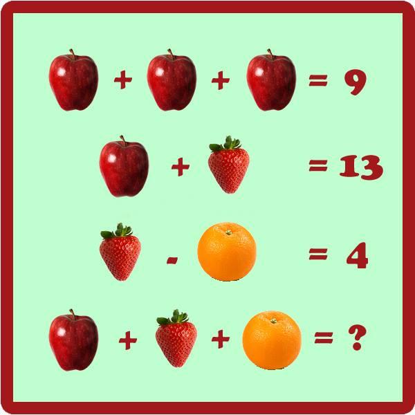 задачки с картинками вместо цифр яркие