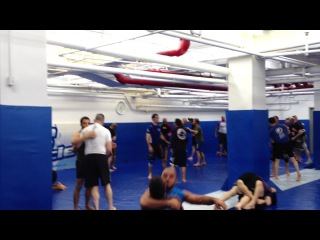 Arsen Abdulkerimov training at Renzo Gracie NYC