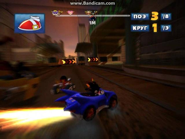 Sonic SEGA All Stars Racing Дарк Файр Соник Холм Роккаку