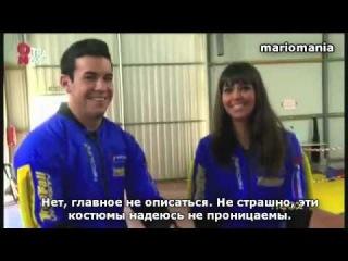 Mario Casas se lanza en paracaídas gracias a Cristina Pedroche (русские субтитры)