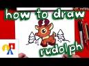How To Draw Cartoon Rudolph