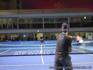 Высоко-интенсивная тренировка Р. Надаля @ Masters Finals 2011