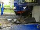 Nehoda - najetí vozu 1724 do 1711 pod vozovnou Medlánky