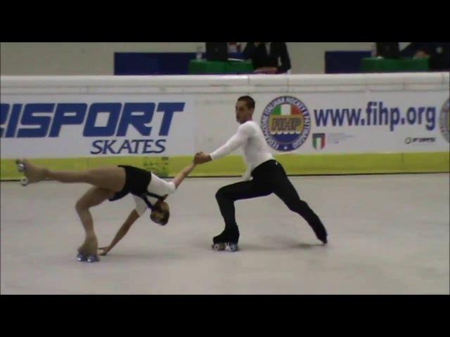 Чемпионат Италии 2016, пары, ПП - Rebecca Tarlazzi - Luca Lucaroni