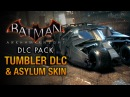 Batman Arkham Knight Tumbler Batmobile Arkham Asylum Skin Race Tracks Free Roam Gameplay