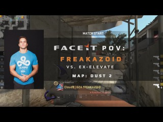FACEIT POV: Freakazoid vs ex-Elevate on Dust 2 (FACEIT League Stage 3)