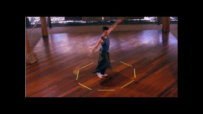 Poi Lesson Whirling and Footwork with extended VJlucidTV visual remix