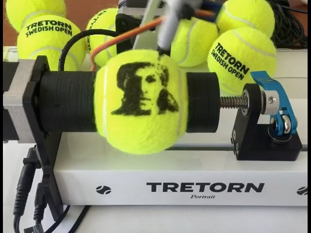 Tretorn robot lets tennis fans create their own signature tennis ball