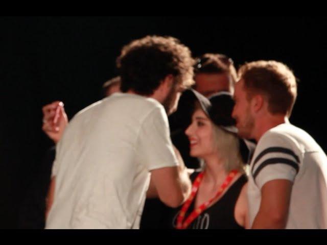 Greta Menchi incontra Tom Felton di Harry Potter