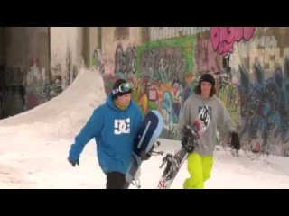Jeremy Cloutier and Frank Bourgeois Snowboarding Freestyle