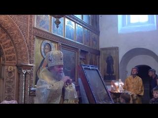 Проповедь Владыки Сергия 20 сентября 2015 г в Святых горах.