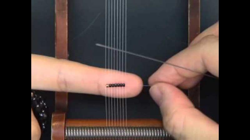 金谷美帆ビーズ織りアート教室/ How to weave a Ring with a loom by Miho Kanaya