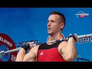2015 European Weightlifting Championships 85 kg Men \ Чемпионат Европы (Толчок)