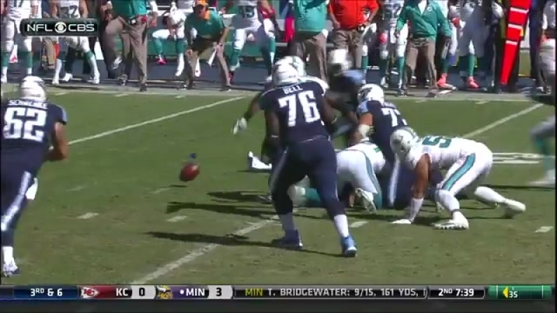 Titans Marcus Mariota sacked and fumbles Dolphins recover