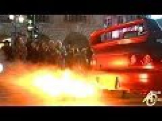INSANE FLAMES shot by Subaru Impreza!