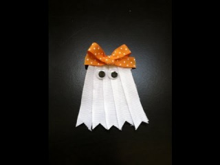 DIY: 2013 Halloween Ghost Bow - Alligator Clip Style!
