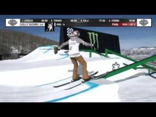 Kelly Sildaru wins Women's Ski Slopestyle X Games Aspen 2017