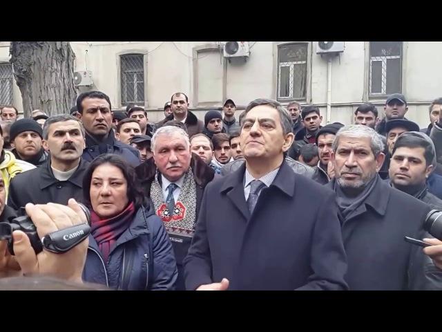 Nardaran məhbuslarının məhkəməsi: Əli Kərimlinin çıxışı (19.01.2017)