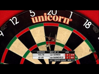 Michael van Gerwen vs Raymond van Barneveld (2017 Premier League Darts / Week 12)