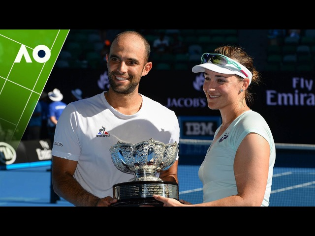 Spears/Cabal v Mirza/Dodig mixed doubles trophy presentation   Australian Open 2017