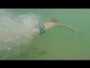 Никитка ныряет. Одесса, пляж Отрада 29.08.16