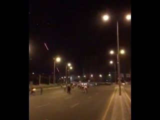 Video appears to show helicopters firing on the ground in Ankara, Turkey