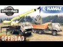 SpinTires KamAZ Truck Crane and KamAZ Dumper