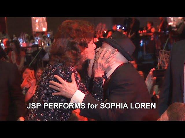 John St. Peeters Performs for SOPHIA LOREN