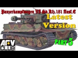 Постройка/building Tiger I AFV Club AF 35079 ч.5