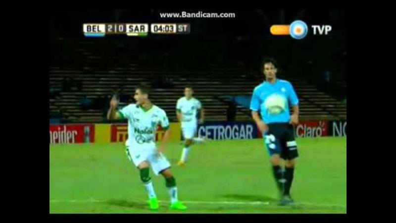 Belgrano vs Sarmiento de Junín 3 0 Primera División 2016 Fecha 6 Zona 1