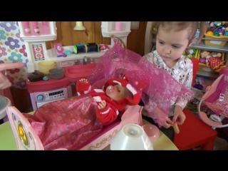 Беби Борн игрушечная кроватка для куклы распаковка игрушки Baby Born doll toy cot