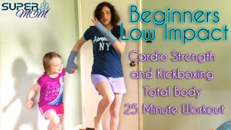 Beginners Low Impact Cardio Strength and Kickboxing Tabata 25 Minute Workout SuperMOM