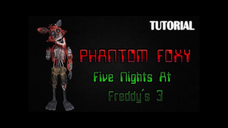 Tutorial Phantom Foxy en Plastilina FNaF 3 Phantom Foxy Clay Tutorial