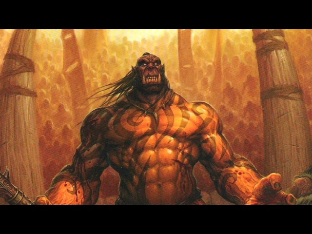 World Of Warcraft Гаррош Адский Крик Мак'Гора поединок с Кэрном Глава 3 24 02 2014