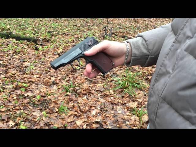 Посмотрим на пневматический пистолет Макарова mp 654k